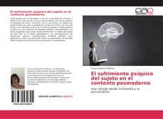 Portada del libro de El sufrimiento psíquico del sujeto en el contexto posmoderno