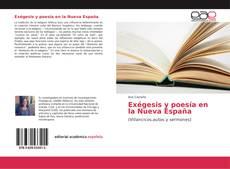 Portada del libro de Exégesis y poesía en la Nueva España