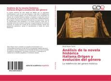 Portada del libro de Análisis de la novela histórica italiana.Origen y evolución del género