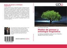 Capa do livro de Modos de pensar y ontología lingüística