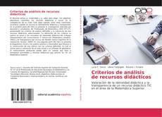 Copertina di Criterios de análisis de recursos didácticos