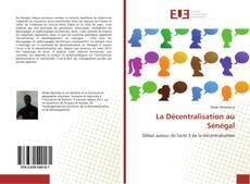 Couverture de La Décentralisation au Sénégal