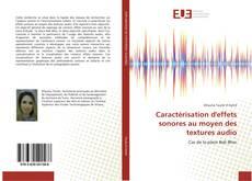 Couverture de Caractérisation d'effets sonores au moyen des textures audio