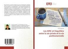 Bookcover of Les NTIC et l'équilibre entre la vie privée et la vie professionnelle
