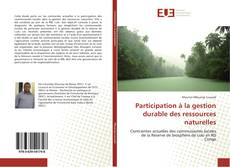 Bookcover of Participation à la gestion durable des ressources naturelles
