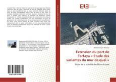Обложка Extension du port de Tarfaya « Etude des variantes du mur de quai »
