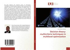 Bookcover of Decision theory: multicriteria techniques in multilevel optimization