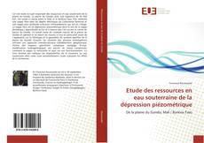 Etude des ressources en eau souterraine de la dépression piézométrique的封面