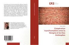Bookcover of Coopération transfrontalière entre la Hongrie et les Etas limitrophes