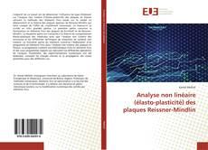Capa do livro de Analyse non linéaire (élasto-plasticité) des plaques Reissner-Mindlin