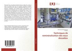 Portada del libro de Techniques de reminéralisation des eaux dessalées
