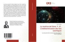 Copertina di La matrice de l'âme. T. 21. L'indétermination des lois cosmiques
