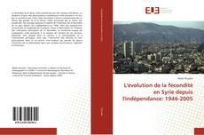 Capa do livro de L'évolution de la fécondité en Syrie depuis l'indépendance: 1946-2005
