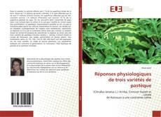 Copertina di Réponses physiologiques de trois variétés de pastèque