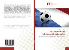 Buchcover von Du jeu de balle à l'«identité nationale»