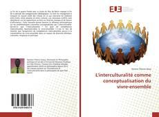 Обложка L'interculturalité comme conceptualisation du vivre-ensemble