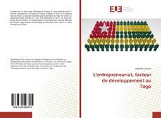 L'entrepreneuriat, facteur de développement au Togo的封面