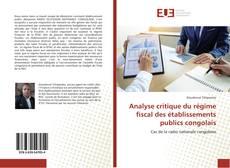 Buchcover von Analyse critique du régime fiscal des établissements publics congolais