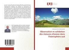Buchcover von Observation et validation des mesures d'ozone dans l'hémisphère sud