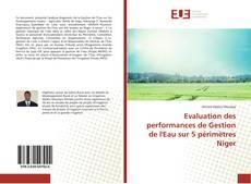 Bookcover of Evaluation des performances de Gestion de l'Eau sur 5 périmètres Niger