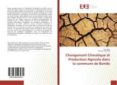 Capa do livro de Changement Climatique et Production Agricole dans la commune de Bondo