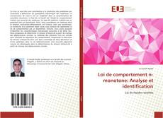 Bookcover of Loi de comportement n-monotone: Analyse et identification