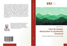 Capa do livro de Taux de change, dévaluation et ajustement structurel