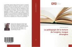 Portada del libro de La pédagogie de la lecture de l'anglais, langue étrangère