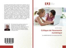 Capa do livro de Critique de l'économie numérique