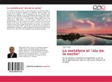 "Capa do livro de La metáfora el ""ala de la noche"""