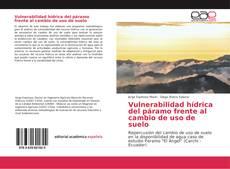 Bookcover of Vulnerabilidad hídrica del páramo frente al cambio de uso de suelo