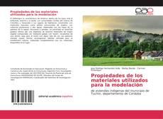 Portada del libro de Propiedades de los materiales utilizados para la modelación