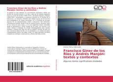 Обложка Francisco Giner de los Ríos y Andrés Manjón: textos y contextos