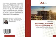Capa do livro de Réflexion sur le code des marchés publics algérien