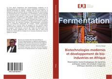 Buchcover von Biotechnologies modernes et développement de bio-industries en Afrique