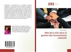 Capa do livro de Rôle de la CSC dans la gestion des licenciements collectifs