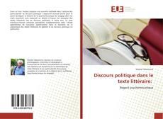 Couverture de Discours politique dans le texte littéraire: