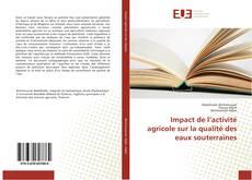 Bookcover of Impact de l'activité agricole sur la qualité des eaux souterraines