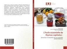 L'huile essentielle de thymus capitatus :的封面
