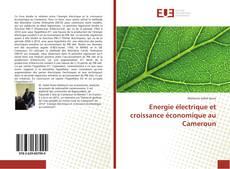 Capa do livro de Energie électrique et croissance économique au Cameroun