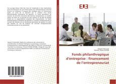 Fonds philanthropique d'entreprise : financement de l'entrepreneuriat kitap kapağı