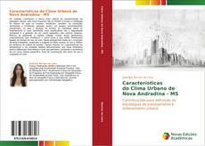 Capa do livro de Características   do Clima Urbano de   Nova Andradina - MS
