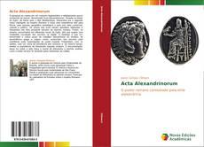 Acta Alexandrinorum的封面