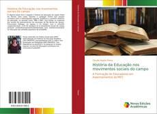 Capa do livro de História da Educação nos movimentos sociais do campo