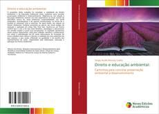 Capa do livro de Direito e educação ambiental: