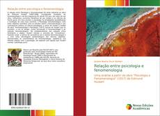 Couverture de Relação entre psicologia e fenomenologia