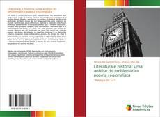 Literatura e história: uma análise do emblemático poema regionalista kitap kapağı
