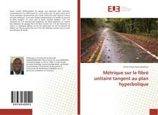 Capa do livro de Métrique sur le fibré unitaire tangent au plan hyperbolique
