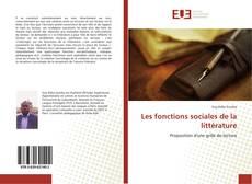 Couverture de Les fonctions sociales de la littérature