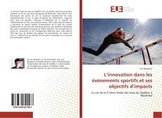 Bookcover of L'innovation dans les événements sportifs et ses objectifs d'impacts